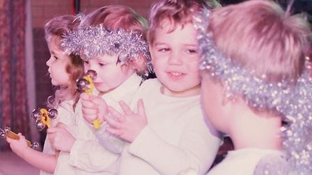 Children from Rainbow Playgroup dressed as angels