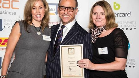Sally Shepherd from Eve and Adam Day Spa, Theo Paphitis and Sue Wybrow from Popdance