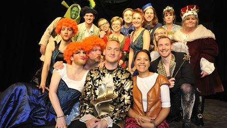 St Peters School, Huntingdon, staff put on a panto for Year 7 pupils, all the cast