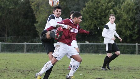 Thai Dhillon gets in front of Finbar Robins