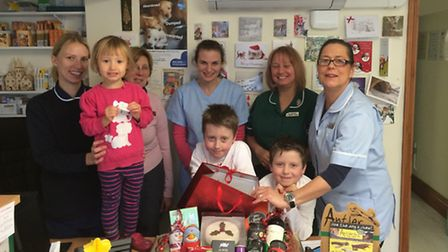 Melbourn Veterinary Surgery raised £500 for the school's library fund