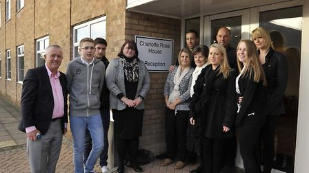 Salesmark, St Neots, has renamed its HQ Charlotte Rose House after a former employee, (left) Managin