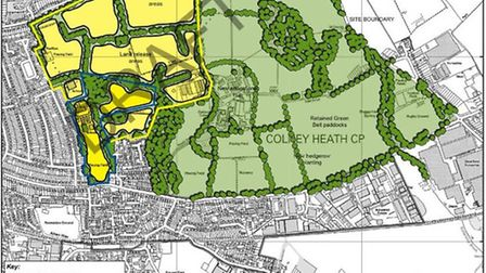 Sub-area highlighted for potential housing east of St Albans.