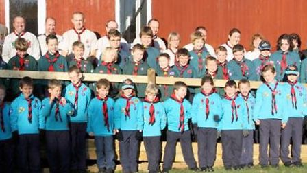 Royston Scouts celebrate the opening of the new ramp at their Scout hut