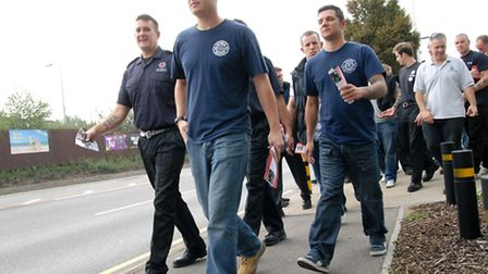 Firefighters on a previous strike