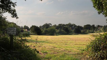 The proposed site of Sewell Park development