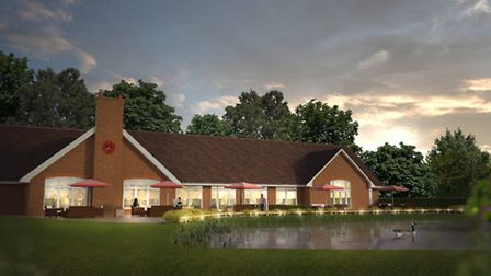 A CGI preview of Aldwickbury Park's extended function room, due to open in 2014.