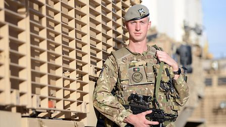 Lieutenant (Lt) James Jackson at Camp Suter in Kabul
