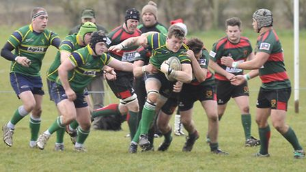 Rory Parker of Huntingdon Stags breaks free in their game against Paviors on Saturday. Picture: Hele