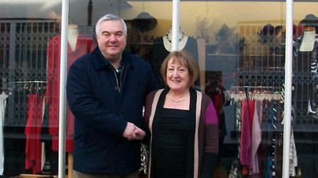 Small Business Saturday: Oliver Heald with Sue Ross, owner of Cream in Royston