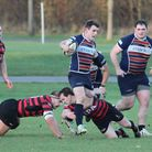 Speirs tries to slip a tackle