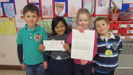 Redbourn Infant and Nursery School pupils received a letter from Buckingham Palace