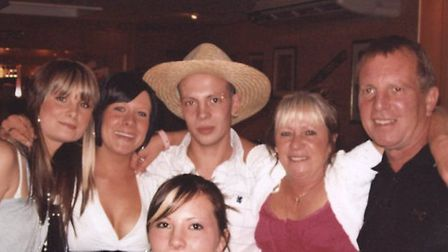 The Lord Family. (From left) Charlotte Lord, Samantha Lord, Richard Lord, Georgina Lord (front), Jan