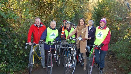 Cyclists took to their bikes to test out the newly resurfaced Alban Way in St Albans, including St A