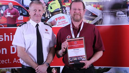 Huw Jones was district volunteer of the year winner for St Albans and Dacorum at theHerts county cou