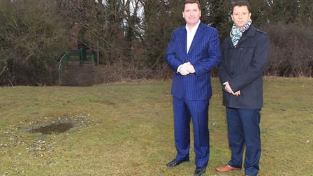 Co-owners of St Albans City Football Club John McGowan and Lawrence Levy. The Saints are seeking to