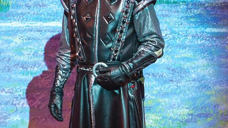 Stephen Beckett as the Sheriff of Nottingham in Robin Hood, on at the Cambridge Arts Theatre.