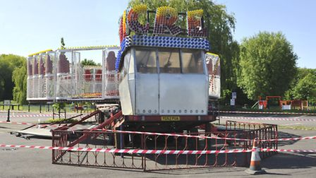 The X-Scream ride at St Neots which collapsed