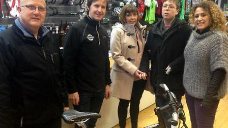 Ian Grundy-Evans, Brian Curran from Pedalworks, Miriam Grundy- Evans, Daniel Grundy-Evans and Natali