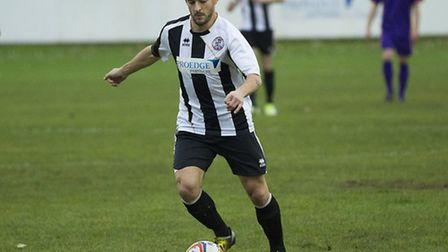 David Cobb of St Ives Town is given the left wing role. Picture: Louise Thompson
