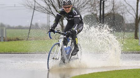 Paralympic hopeful Craig Green has been out in all weathers. Picture: Helen Drake