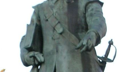 Cromwell's statue in St Ives