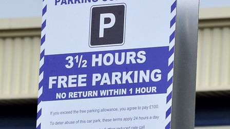 Car Parking signs at Towerfields, Huntingdon.
