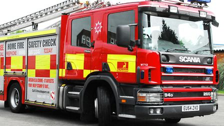 Fire crews from Royston, Cambridge and Gamlingay attended the scene