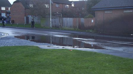 Flooding in Burns Road is causing concern for residents
