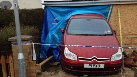 The car has remained at the property since Saturday