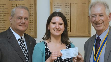 Paul Bolton, chairman of the international committee, Ellen Hughes from the Charity Magic Bus, and R