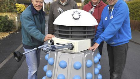 Godmanchester Baptist Church will auction off a dalek for charity. (From left to right) Dalek makers