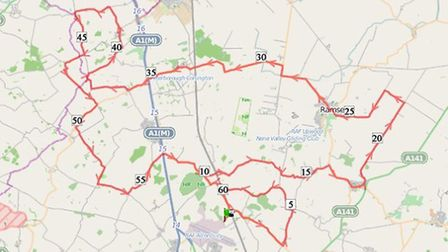 Two Wheels for Woodlands 60 mile route