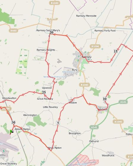 Two Wheels for Woodlands 30 mile route
