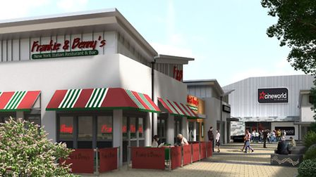 Artist's impression of the cinema complex in St Neots.