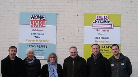 Andy Williams Cllr Lindsay Davidson,Viv williams, Rob Fox and Matt Hall with Kevin Souter from Homes