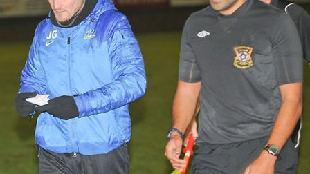 James Gray confronted referee Ashvin Degnarain after the game. Picture: Bob Walkley