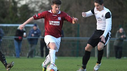Matt Taylor spent two months on loan at Calor Central side Potters Bar. Picture: Danny Loo
