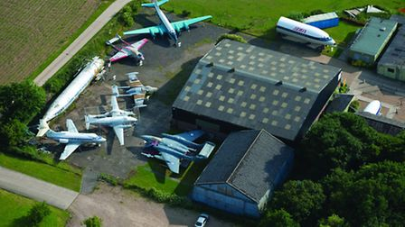 Hertfordshire from the Air: De Havilland Aircraft Heritage Centre at Shenley [Picture: Jason Hawkes]