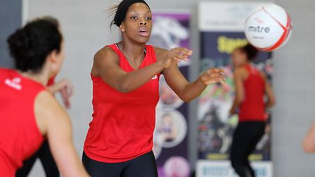 England Netball practicing at Oaklands College. Picture: Danny Loo