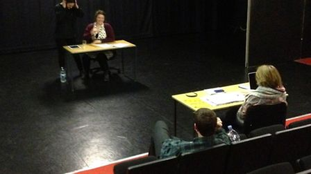 New Writing Festival in rehearsal
