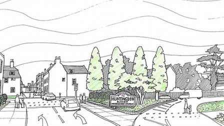 How one of the entrances in Huntingdon could look following a bit of a revamp.