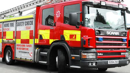 A car caught fire after a crash in Holme on Sunday.