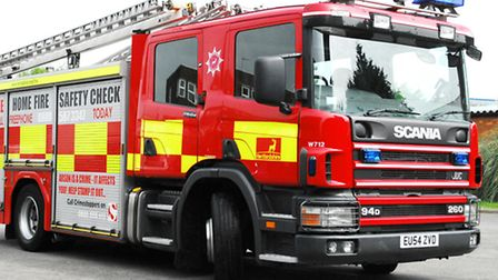 Firefighters were called to the scene on the southbound carriageway of the A1 at Little Paxton.