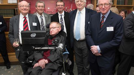 Professor Stephen Hawking attended a fundraising appeal for St Albans School at the Science Museum i