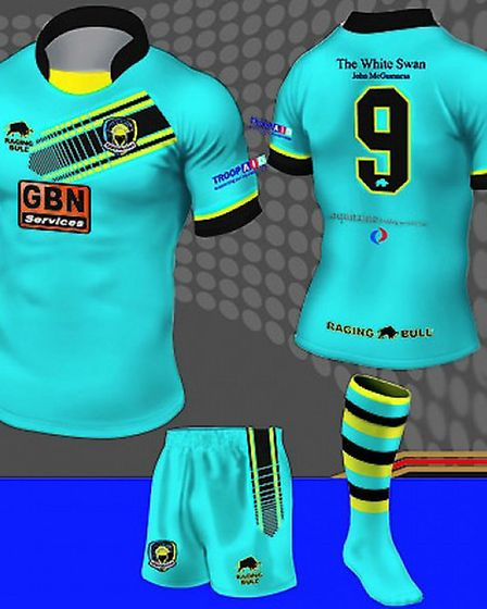 The Centurions' new kit for the 2014 season.