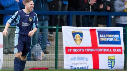Shane Tolley scored twice for St Neots against Burnham on Saturday. Picture: Claire Howes
