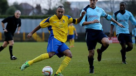 James Comley has scored six goals for St Albans City this season. Picture: Leigh Page