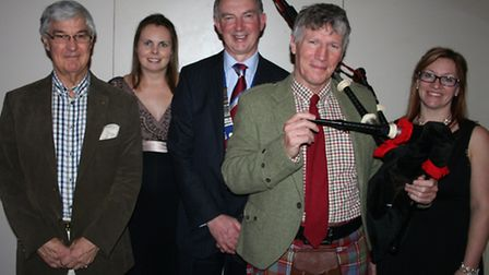 Left to right: Bengie Walden, Lions, chairman of organising committee Jane Ray, Lions Andrew Godd