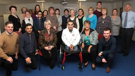 Ali Jawad, world record Paralympic powerlifer and Crohn's and Colitis UK champion pays a visit to st